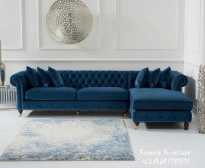 Sofa Tamu Sudut Chesterfield